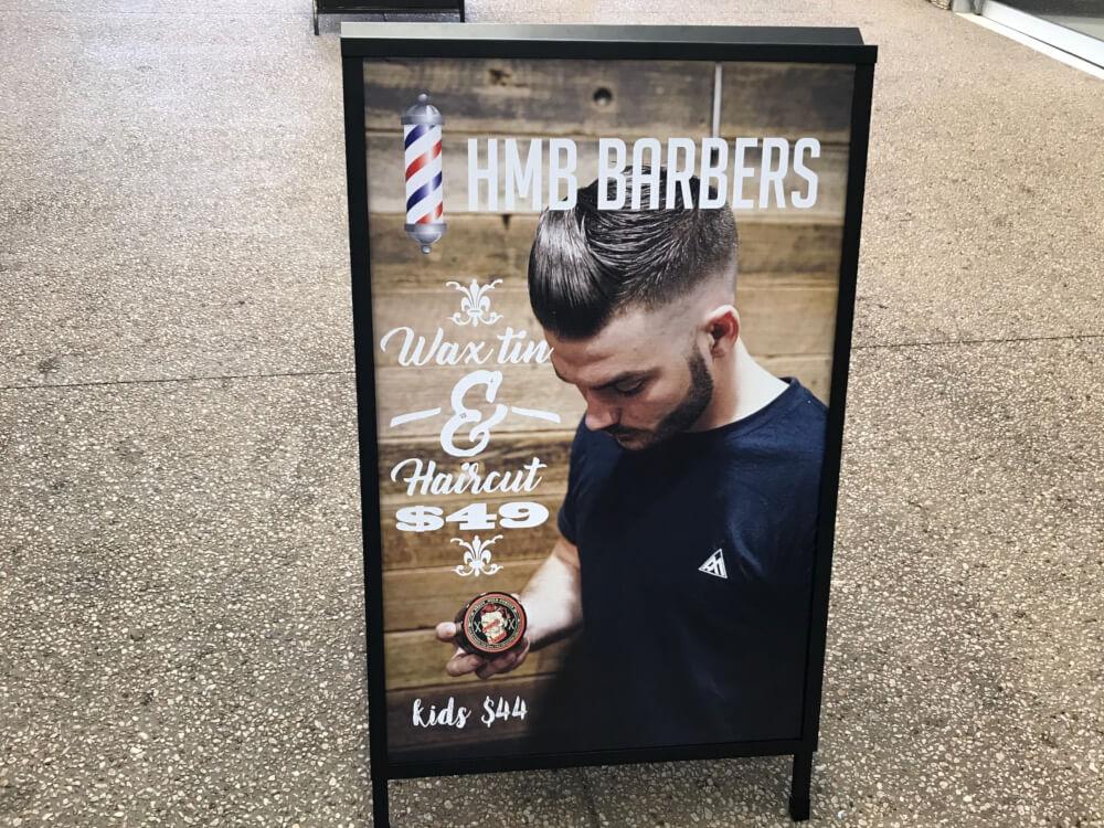 Express Print A Frames HMB Barbers