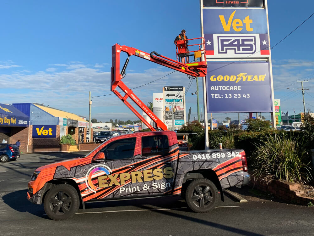 Express Print Sign Installation
