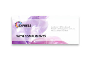 Express Print With Compliments Product Image